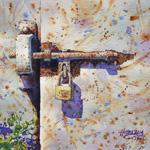 Lok Kerk Hwang | Closed No. 24|Original Painting (Framed)