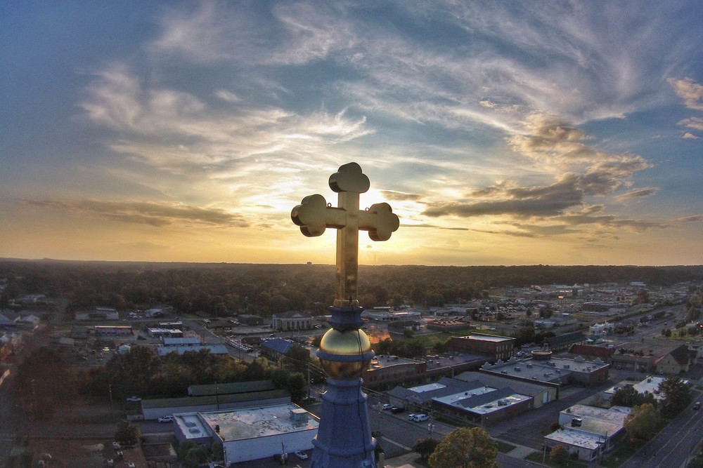 Sacred Heart Church, Alabama Aerial Photography