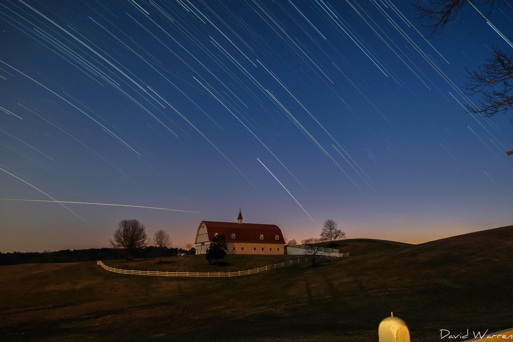 Star Trails over The Hallmark Farm in Warrior