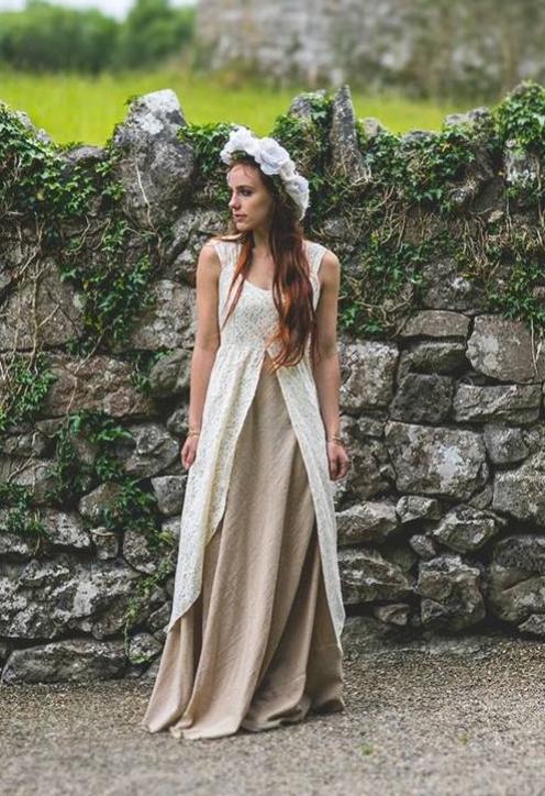 Earth Goddess Wedding Dress — Free Spirited Celtic design