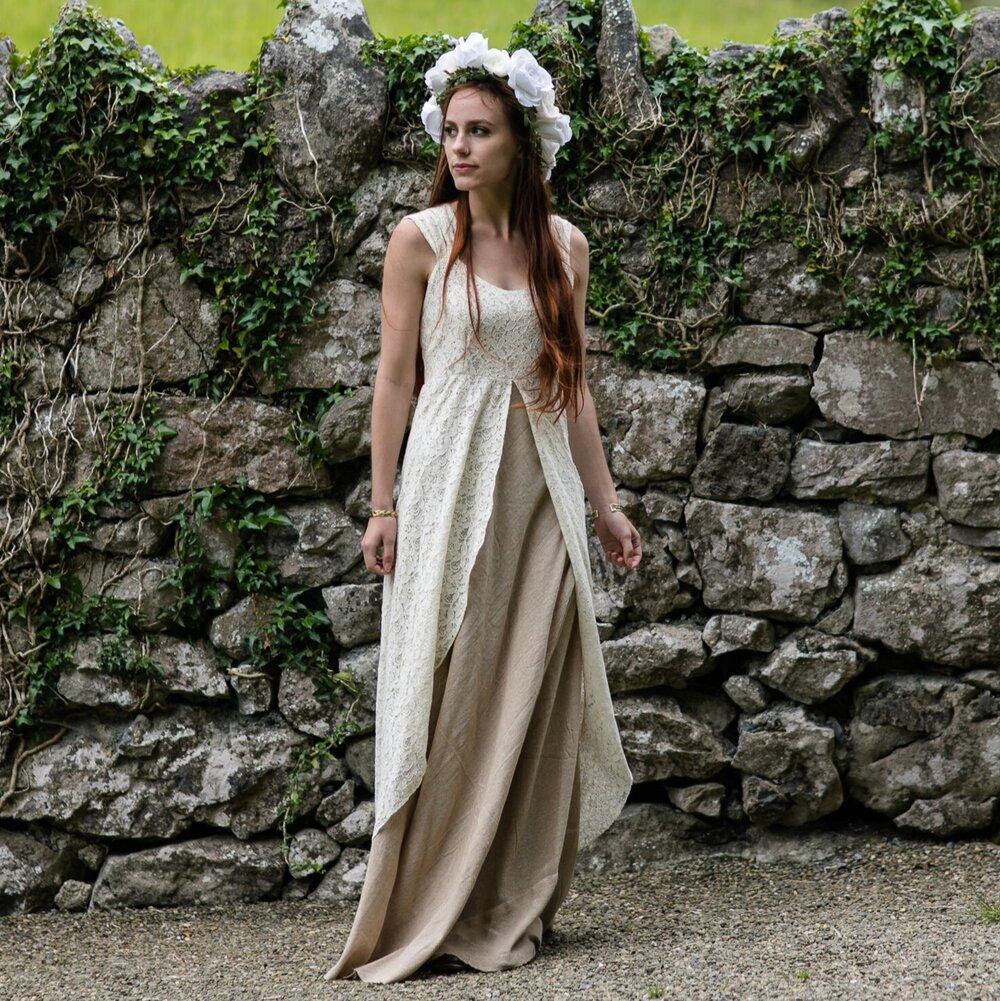 Earth Goddess Wedding Dress Free Spirited Celtic Design