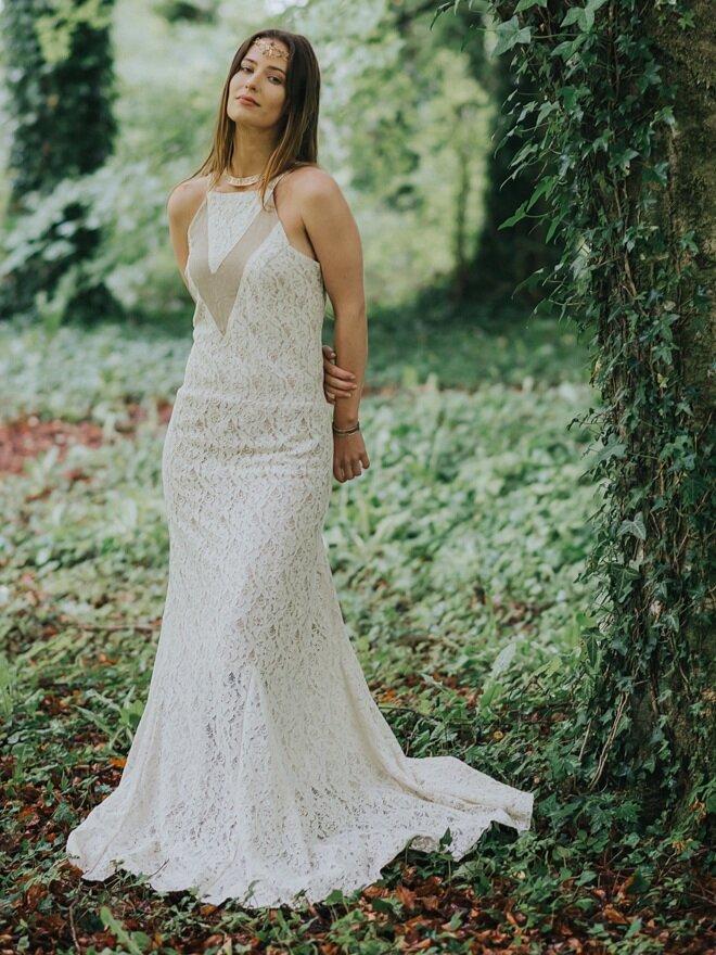Bohemian Wedding Dress — Free Spirited Celtic design
