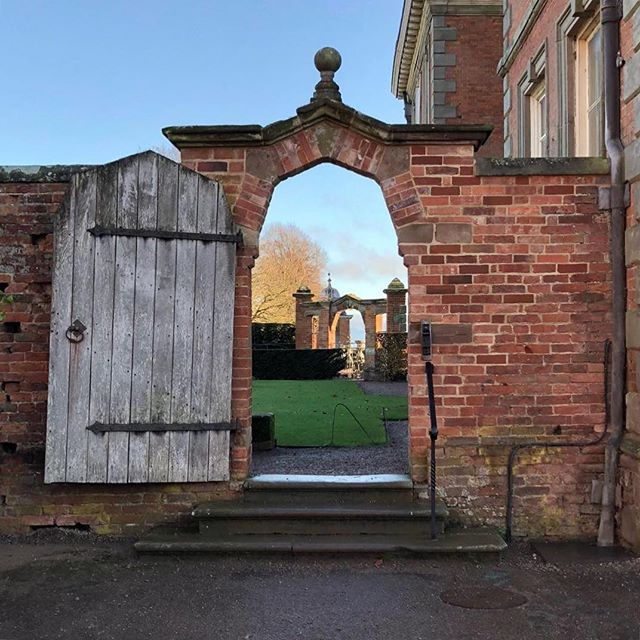 Enjoying the heptagonal arch motif at Hanbury Hall (circa 1701)