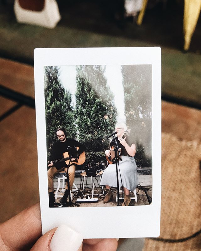 """Often we get asked, """"what instruments do you play?"""". Mike plays a left handed Taylor GS Mini acoustic guitar & Han plays a right handed Kala Ubass (Ukulele Bass). 💖 #thebellsduo #acousticduo #weddingmusicians"""