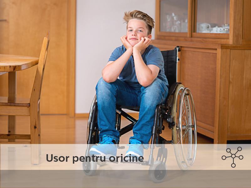 Complexul Newton este prietenos si pentru persoanele cu dizabilitati, prin solutii gandite anume.