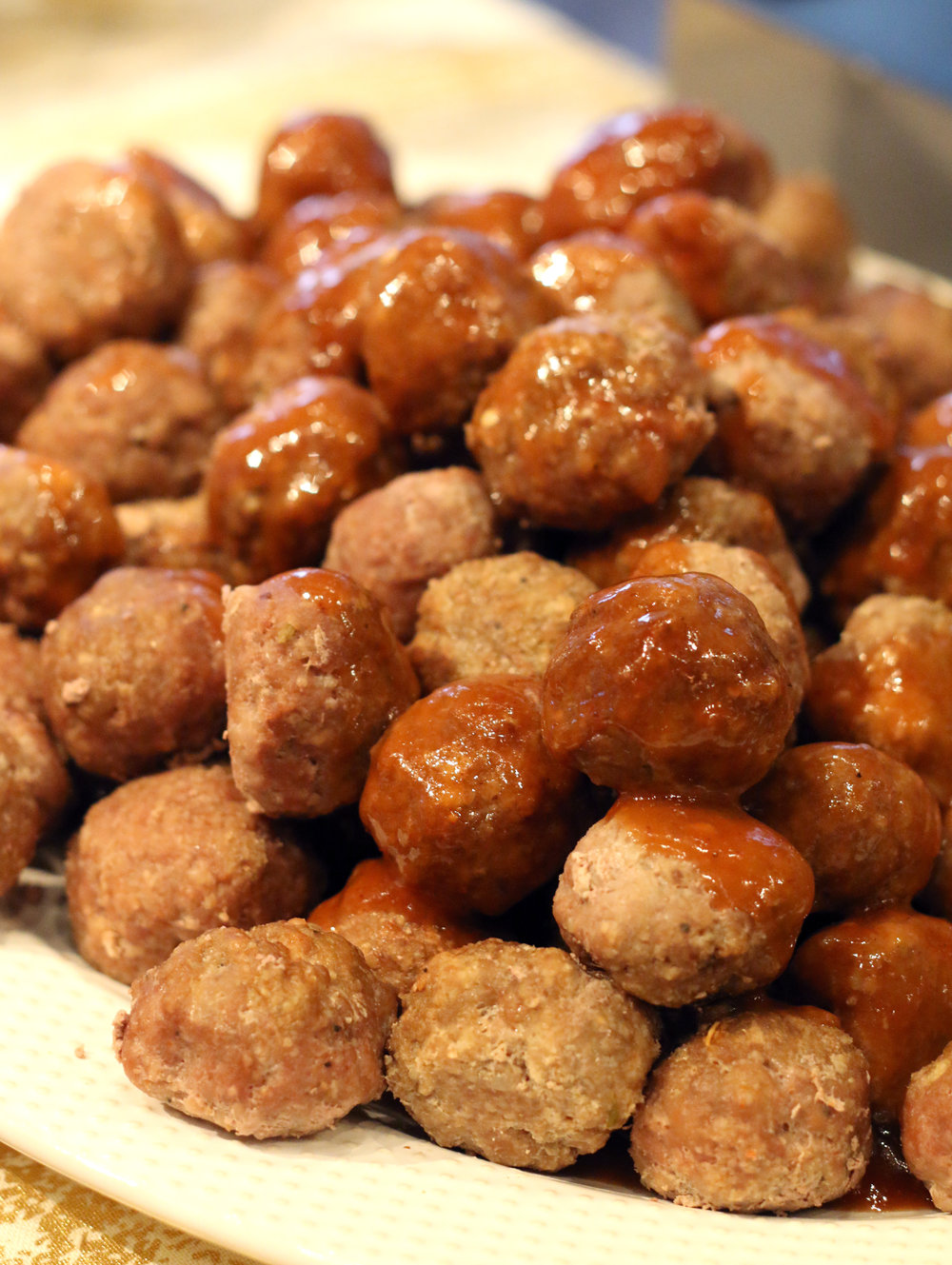 Fig-glazed Roast Turkey Meatballs with Traditional Gravy