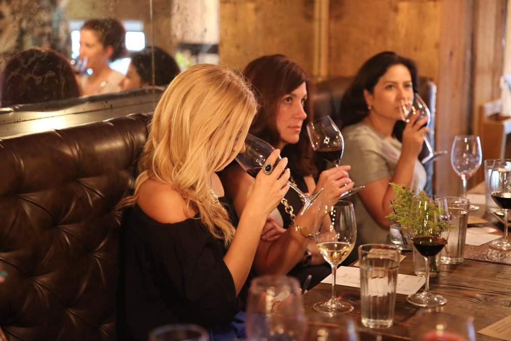 Miami Wine Lovers getting together at one of our Women Who Wine Events