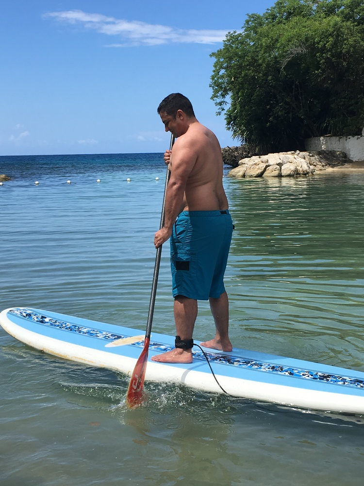 Hubby Paddleboarding