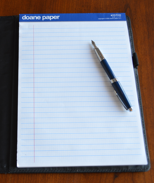 Doane Paper Pad with Fountain Pen