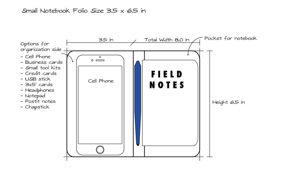small notebook folio pocket size dropped original content books