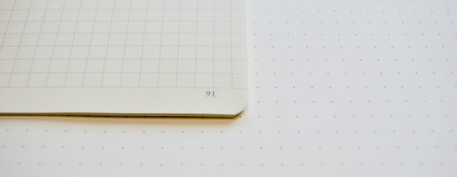 Bright white pages in the Composition Notebook (A5 size notebook shown in square grid layout)