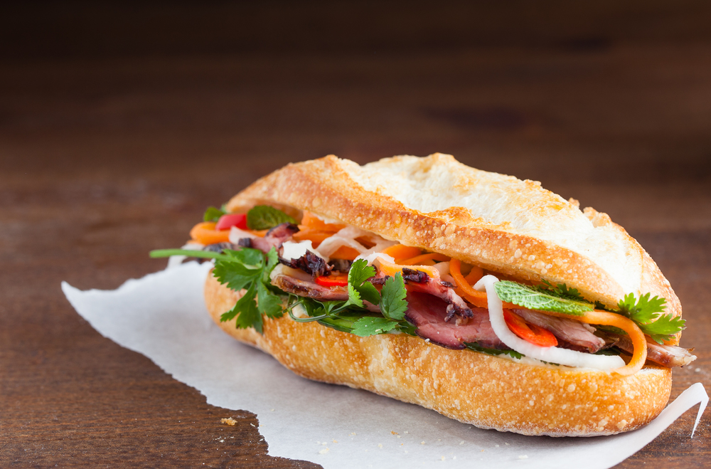 Banh mi is the most popular Saigon street food