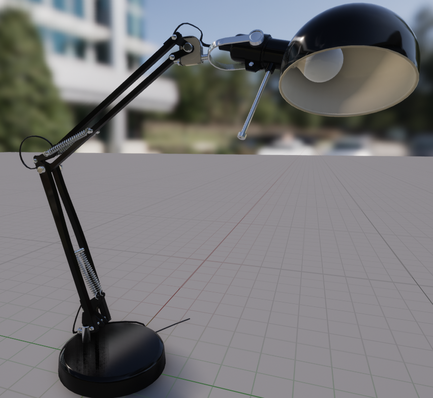 First Version - First I did a highpoly version without anyform of baking. Relying on a high amount of polygons. Almost 20000 tris is a bit much for a lamp, and I started to make a second version.19502 tris 2048x2048 PBR textures