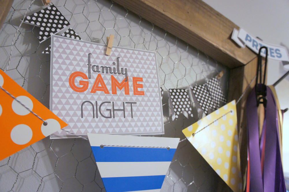Family Game Night And Some Free Printables Little House Studio