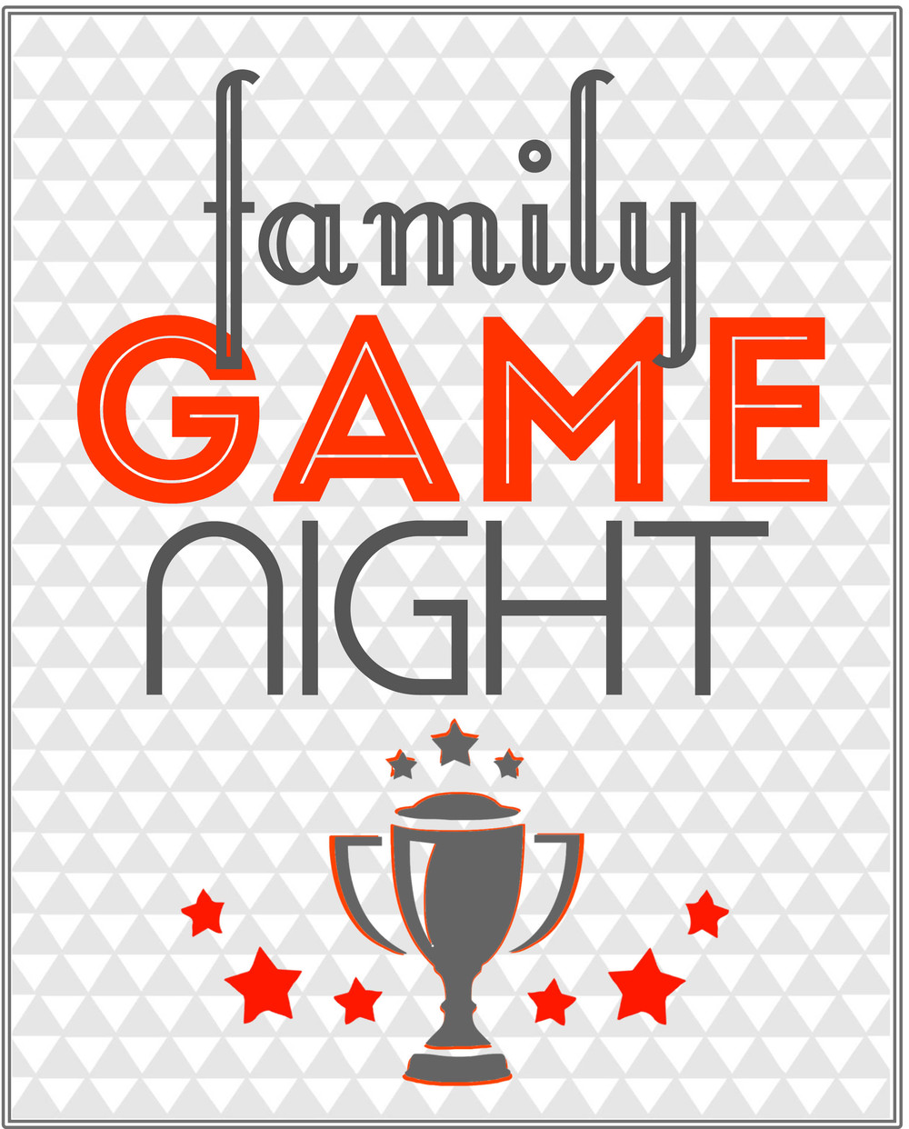 image relating to Printable Family Games identify Cost-free Household Activity Night time Occasion Printables