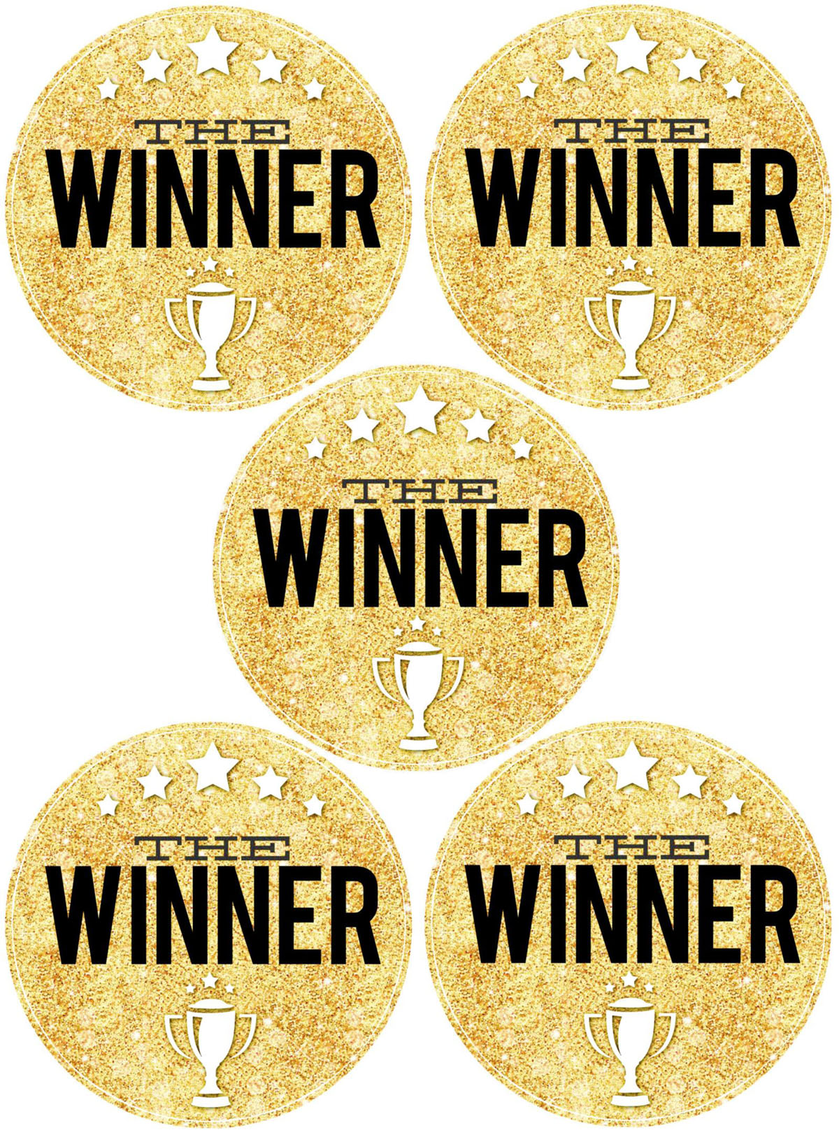 Game Night Winner Medals Printable