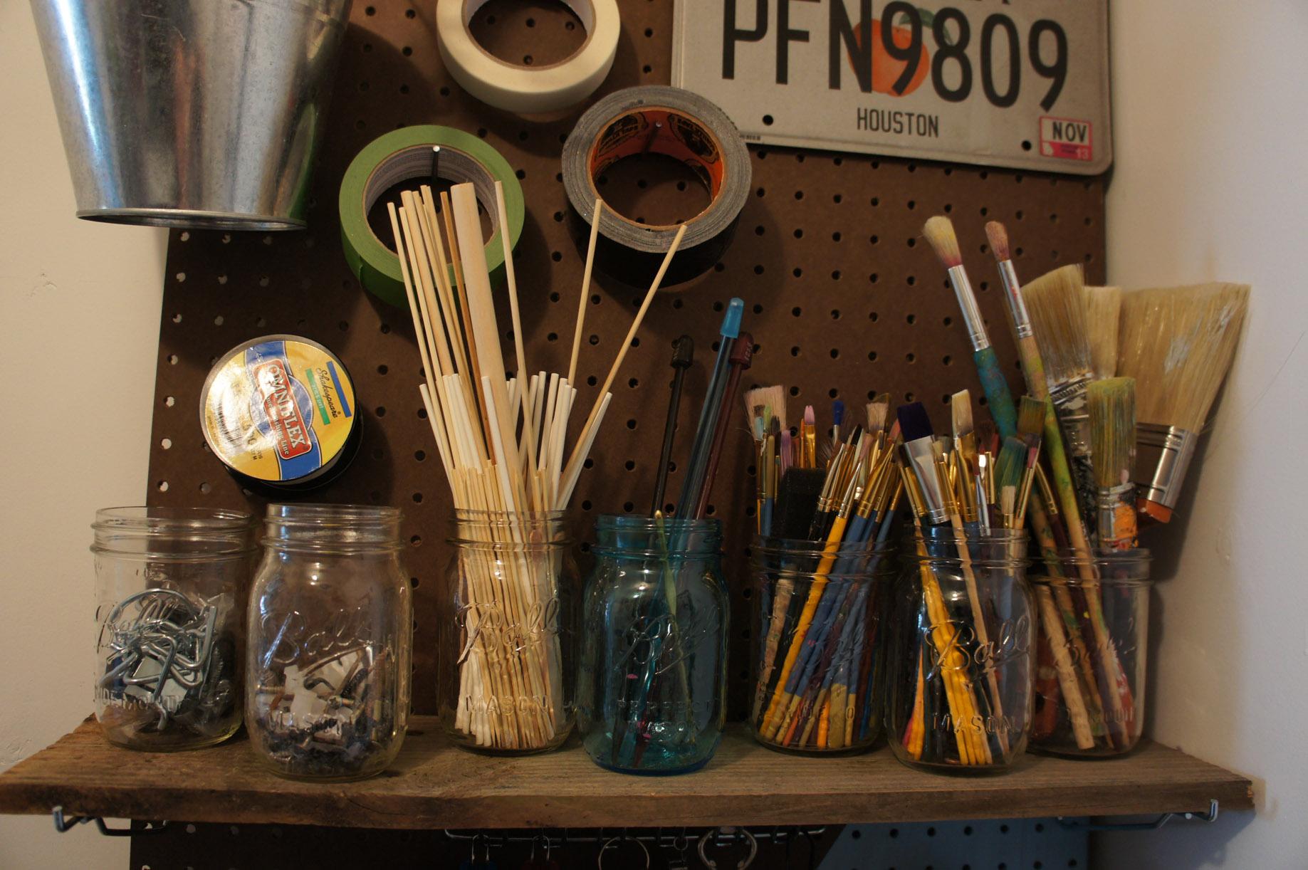 mason jars to organize