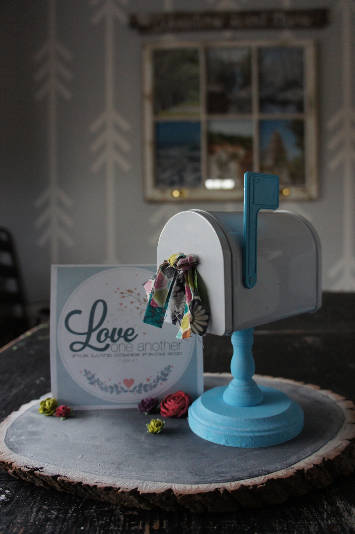 DIY Mini Mailbox Makeover {for Valentine's Day}