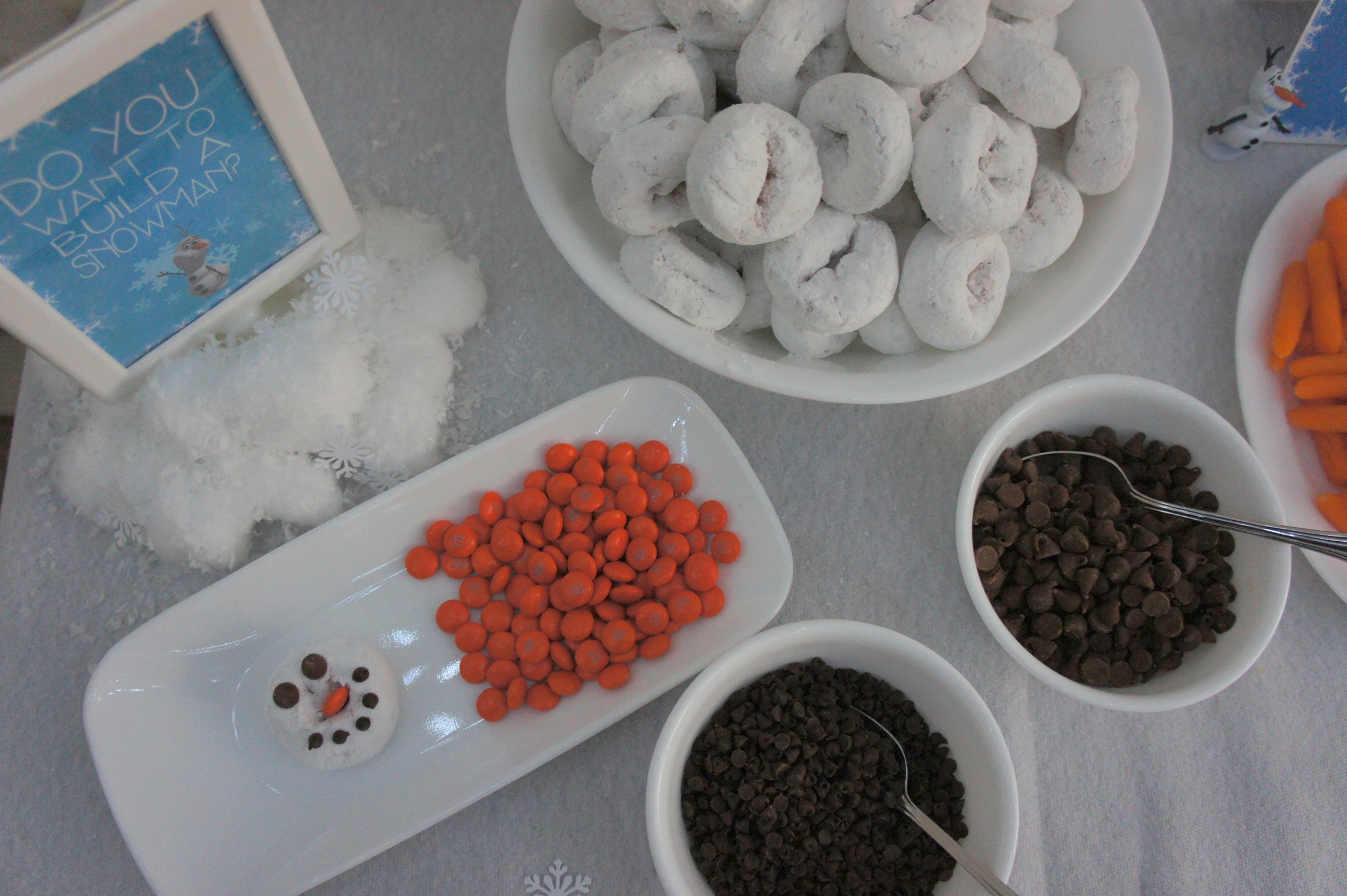 Frozen themed food - Do You Want To Build A Snowman?