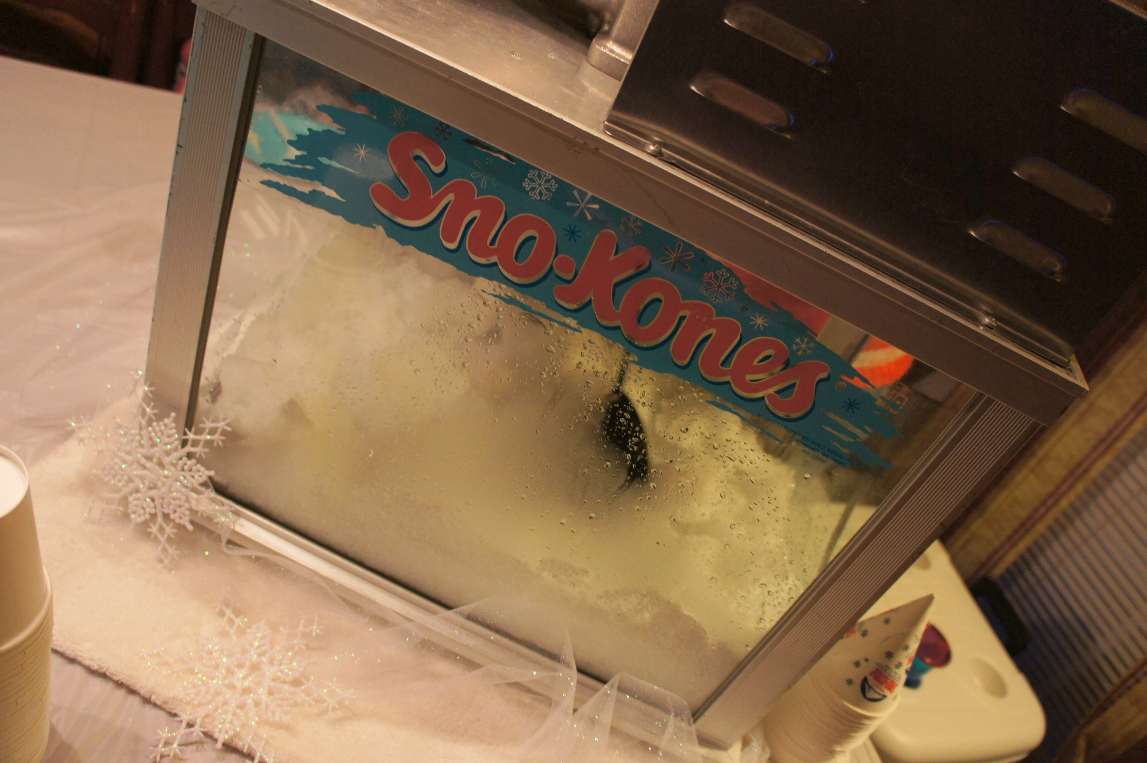 Frozen themed food - Sno-Cone machine