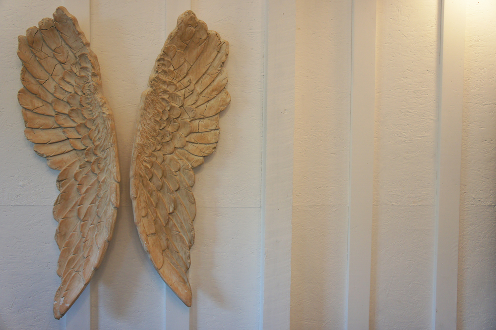 The angel wings!
