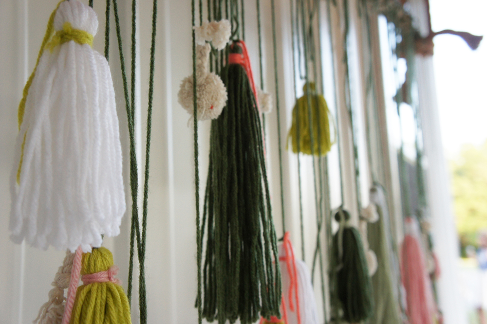 These tassels totally inspired me...something in my house will be getting some tassels soon!