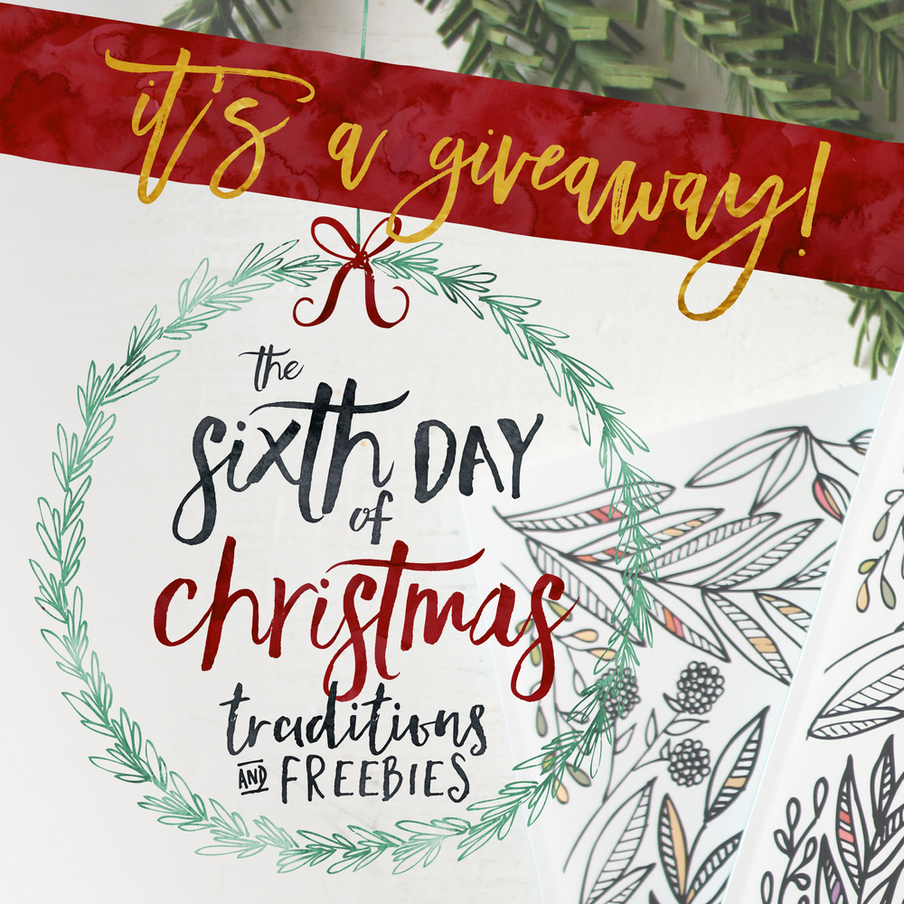 The Sixth Day of Christmas: A GIVEAWAY!!! — Little House Studio