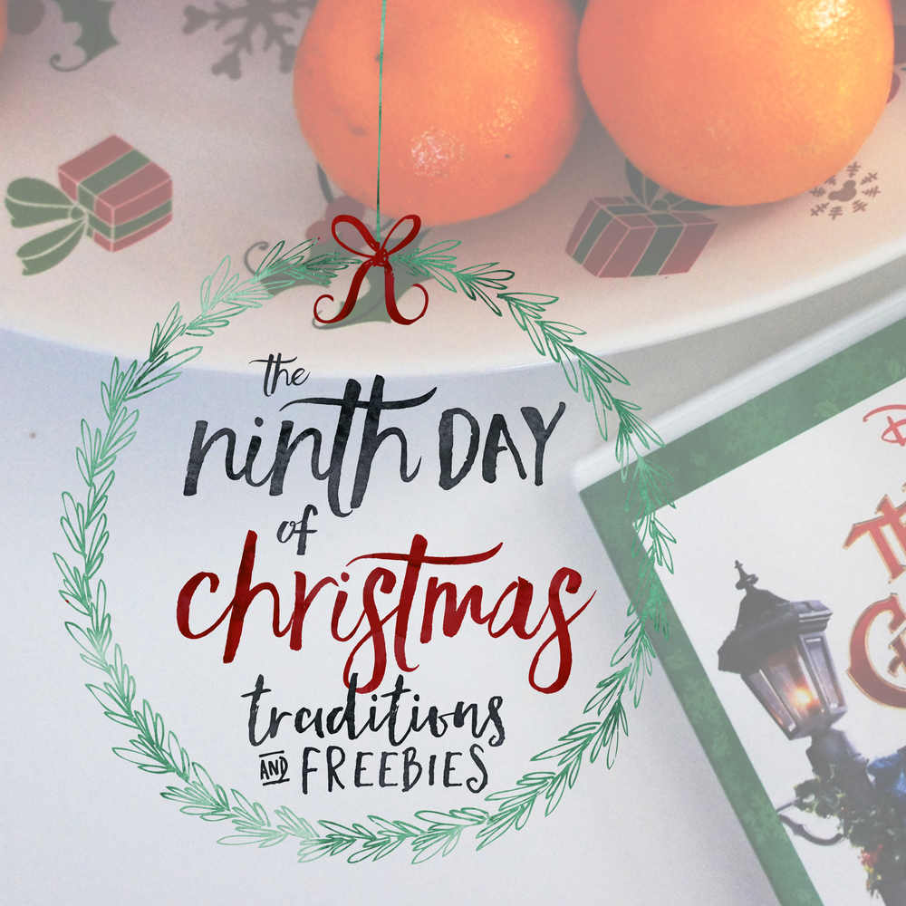 The Ninth Day of Christmas Traditions & Freebies: A Christmas Carol ...