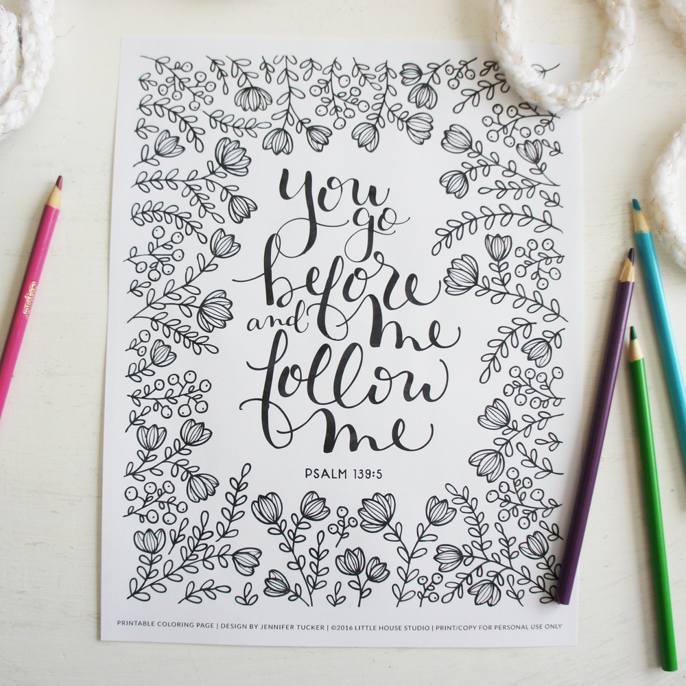 Coloring Pages Psalms Collection Vol 1 Little House Studio