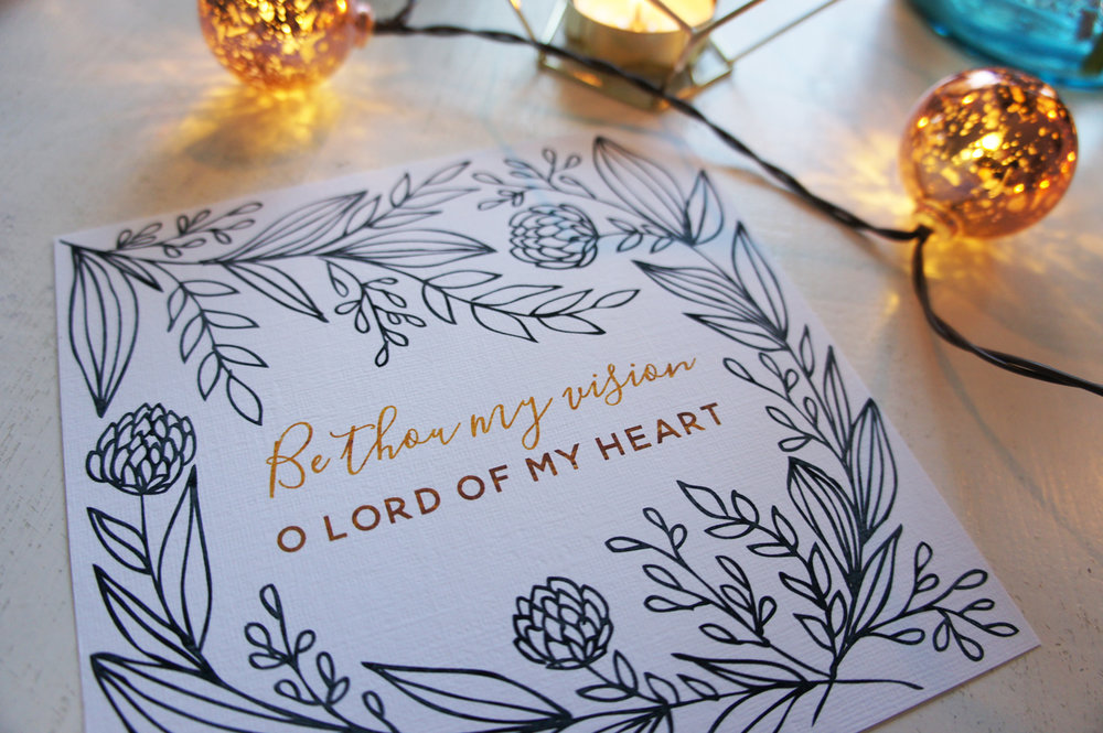 Be Thou My Vision || Free Printable || Little House Studio