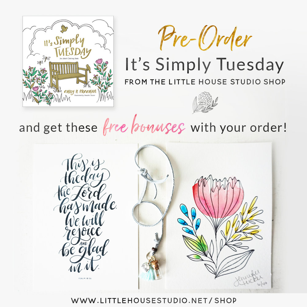 It's Simply Tuesday Pre-Order Bonuses || Little House Studio