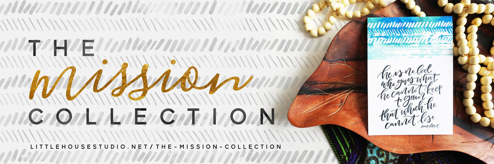 100% of the proceeds from all purchases made from the Mission Collection will go toward missions work in Togo, Africa