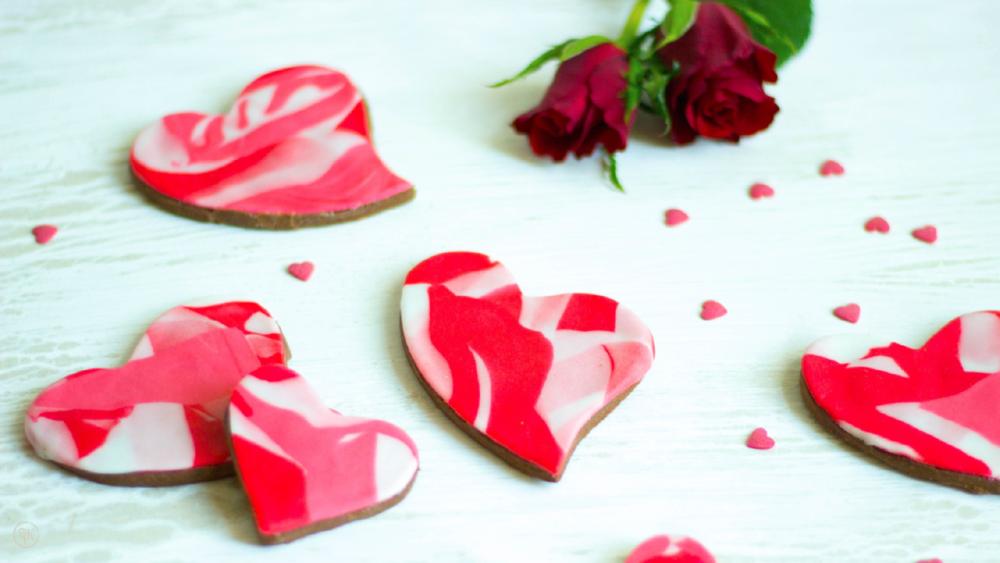 Liebeskekse zu Valentin