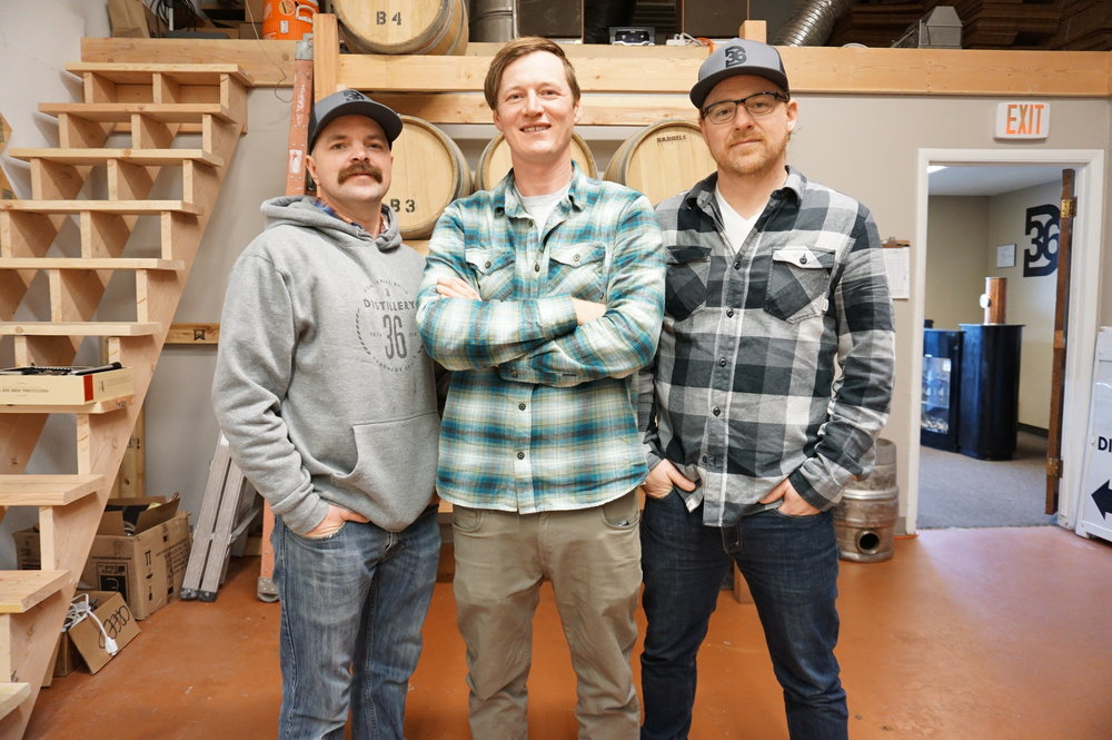 The Crew - Distillery 36 was founded by long time friends Jensen Dobbs, Creed Law, and Jon Gregersen.  Along with producing 100% cane rum from scratch, the crew at Distillery 36 has a knack for mechanics and engineering and  proudly constructed their own stills.  They offer tours of their facility and love showing people their work.