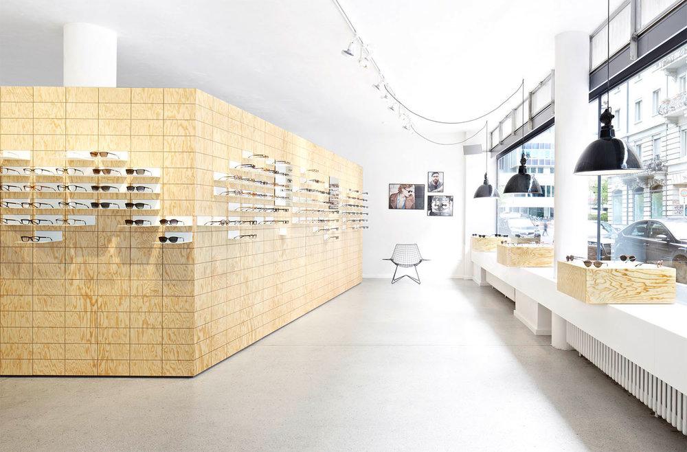 Retail Design, Flagshipstore, Brillendisplay