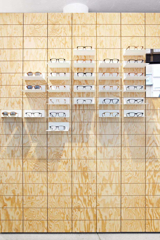 Retail Design, Flagshipstore, Detail Brillendisplay