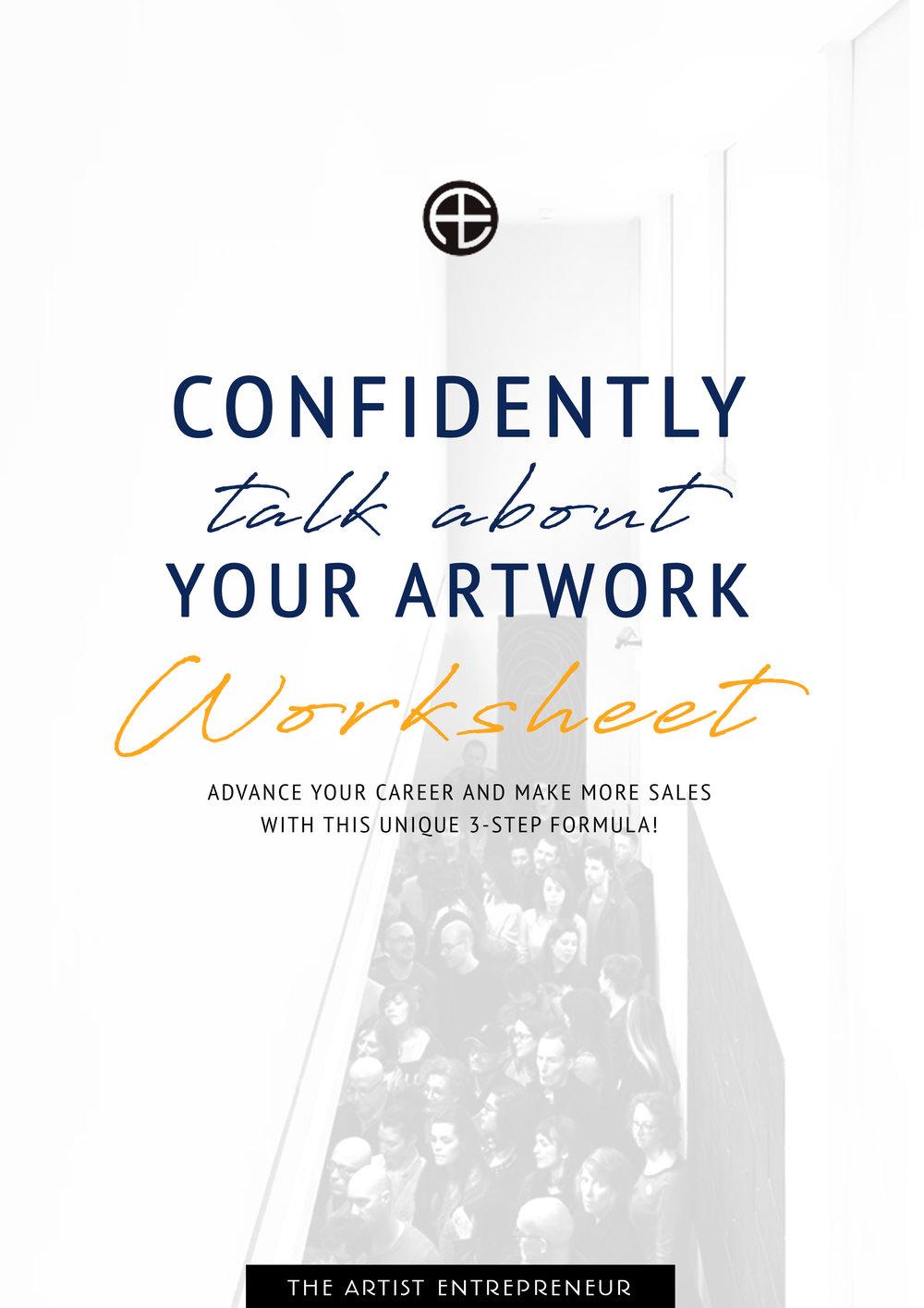 confidently talk about your art worksheet_the artist entrepreneur_cover.jpg