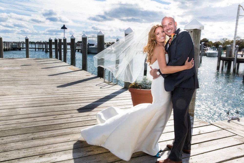 Wedding at the Montauk Yacht Club, Montauk NY -