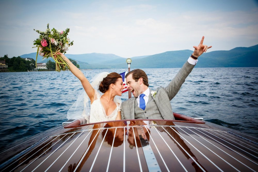 Wedding  on  Lake George New York -