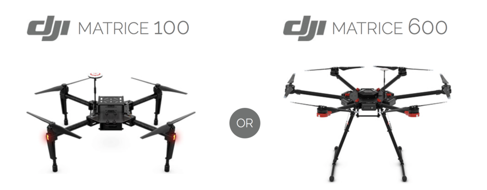 The partnership between DJI and PrecisionHawk provides consumers with a pre-assembled package that includes either the Matrice 100 or the Matrice 600.