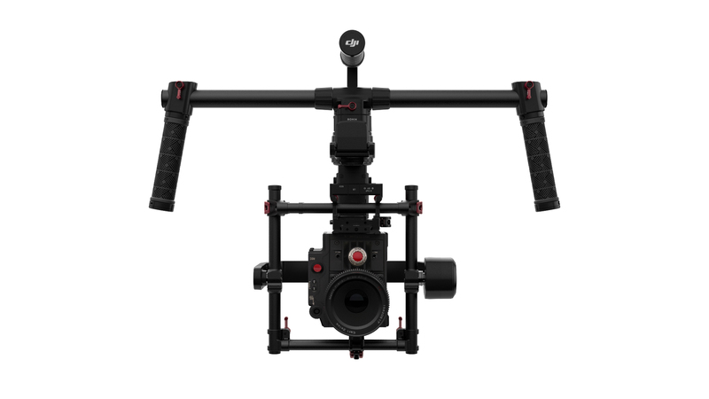 The Ronin-MX gimbal can be handheld or attached to the Matrice 600, and can hold any type of camera.