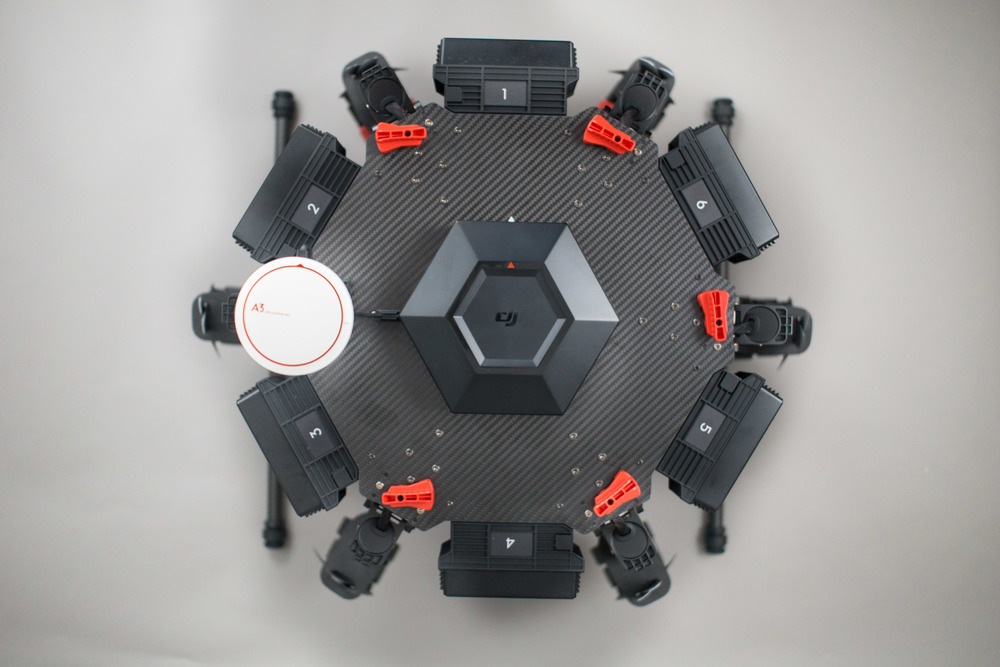 DJI Matrice 600 with Arms Folded