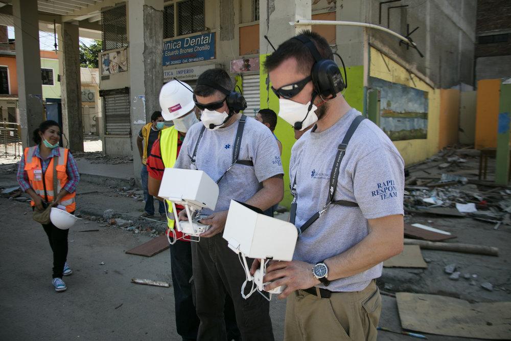 The AeroVision team in Ecuador. Courtesy of AeroVision Canada