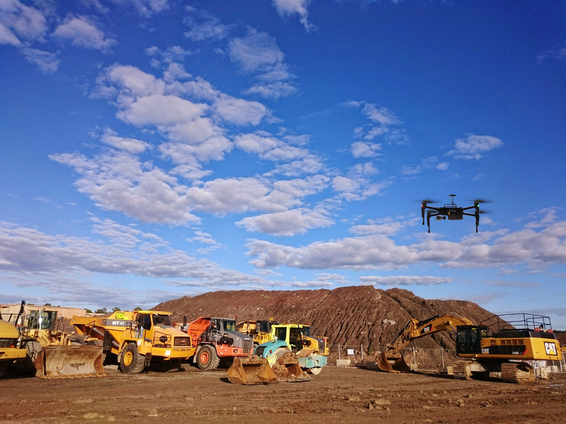 Drones are working alongside more traditional machines in the construction industry.