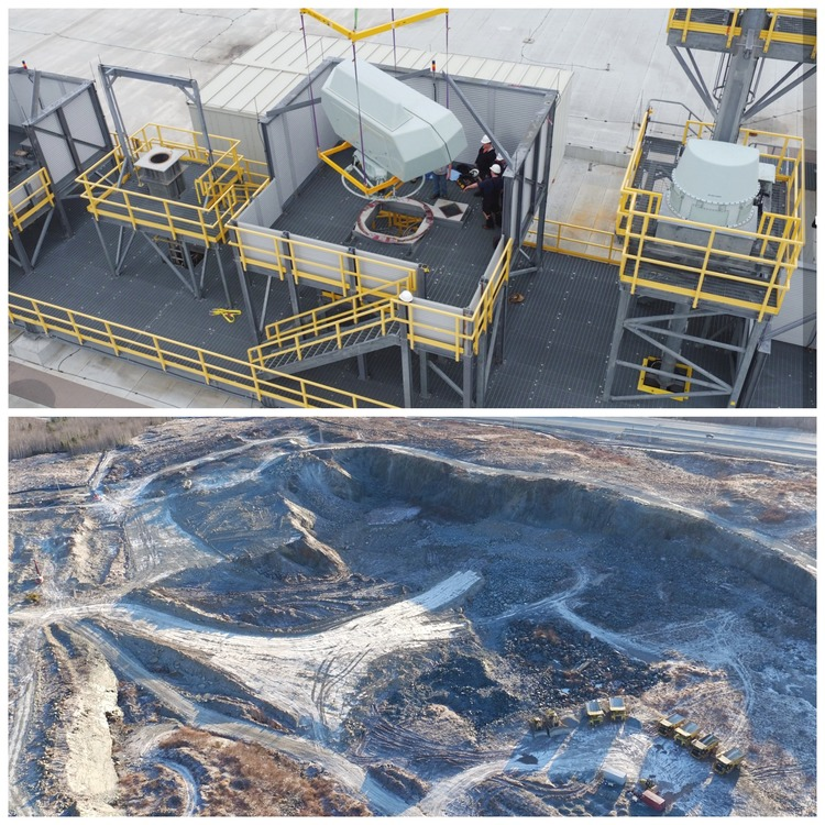 Drones give an aerial view of job sites large and small. Courtesy of AeroVision Canada