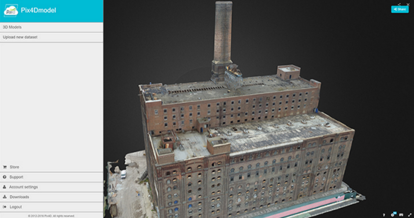 Users can create 3D models of a project. Courtesy of Pix4D