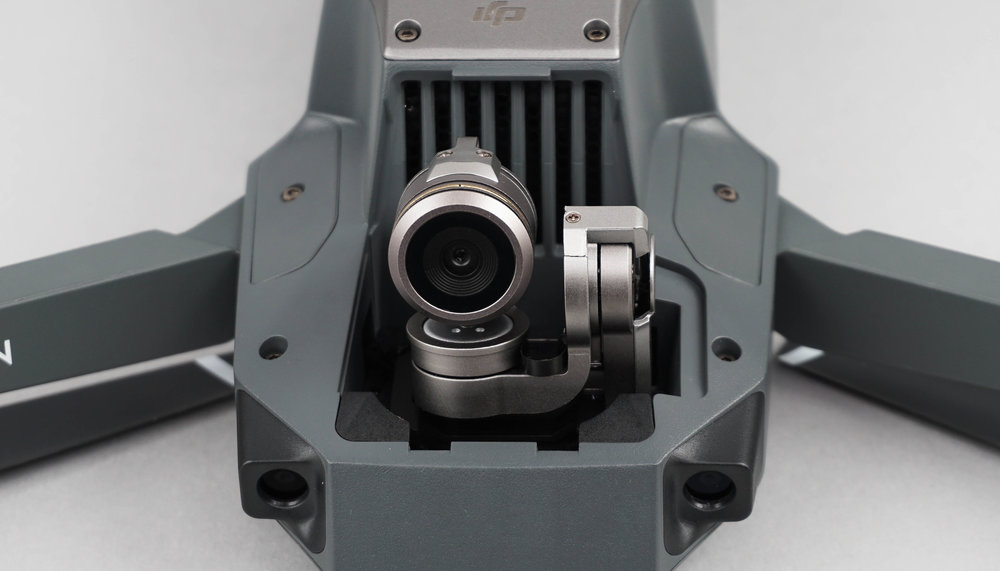 The Mavic's 4K camera features a high precision 3-axis gimbal