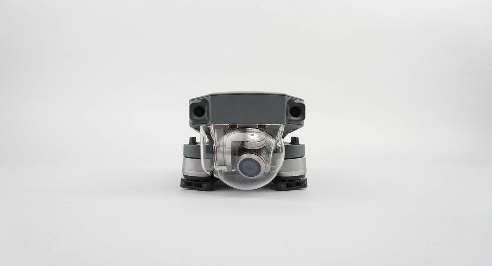 The glass dome protects the camera and gimbal system while the Mavic is in transit