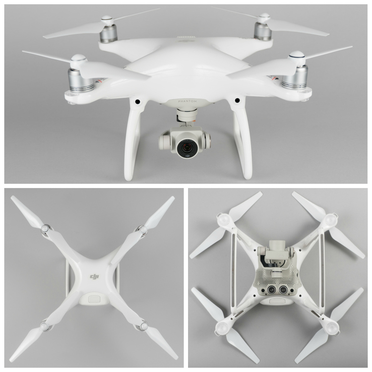 The Phantom 4 features a sleek, glossy finish
