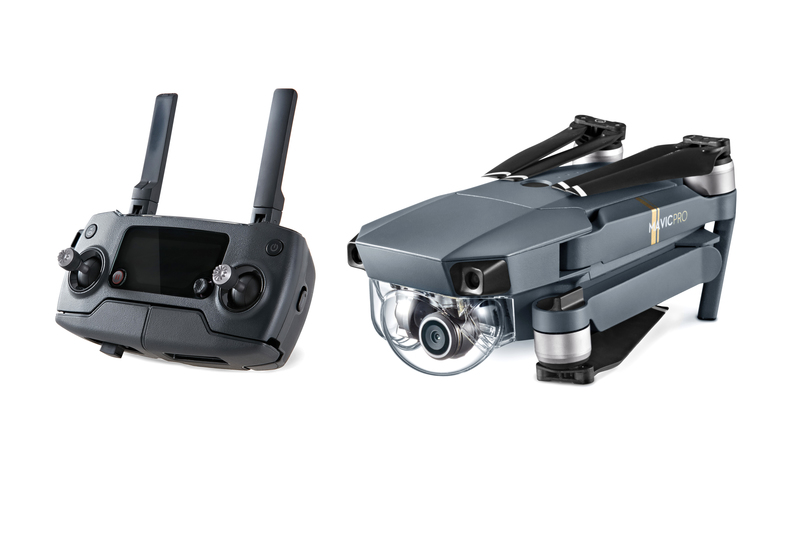 The DJI Mavic Pro can fold down to roughly the size of a water bottle